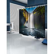 Χαμηλού Κόστους Κουρτίνες Μπάνιου-Κουρτίνες μπάνιου & γάντζοι Χώρα Πολυεστέρας 3D Μηχανοποίητο Αδιάβροχη Μπάνιο