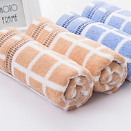 baratos Toalha de Banho-Qualidade superior Toalha de Banho / Toalha de Lavar, Xadrez / Quadrados Poliéster / Algodão Banheiro