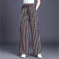 Dámské Základní Větší velikosti Volné Široké nohavice Kalhoty - Barevné bloky Černá