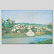 billiga Människomålningar-Hang målad oljemålning HANDMÅLAD - Människor Blommig / Botanisk Moderna Duk