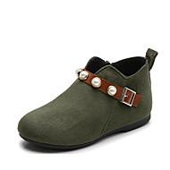 baratos Sapatos de Menina-Para Meninas Sapatos Poliester Outono & inverno Botas da Moda Botas para Verde Tropa