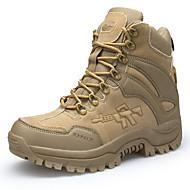 baratos Sapatos Masculinos-Homens Fashion Boots Pele Nobuck / Couro Ecológico Outono Conforto Botas Caminhada Verde Tropa / Castanho Claro / Castanho Escuro