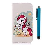 billiga Mobil cases & Skärmskydd-fodral Till Xiaomi Redmi 5 Plus / Redmi 5 Plånbok / Korthållare / med stativ Fodral Enhörnings Hårt PU läder för Redmi Note 5A / Xiaomi
