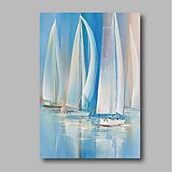 billiga Abstrakta målningar-Hang målad oljemålning HANDMÅLAD - Abstrakt Samtida Inkludera innerram / Sträckt kanfas