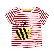 Børn / Baby Pige Prikker / Stribet / Patchwork Kortærmet T-shirt