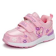 baratos Sapatos de Menina-Para Meninas Sapatos Courino Outono Conforto Tênis para Roxo / Fúcsia / Rosa claro