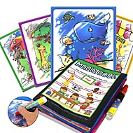 cheap Music, Art & Drawing Toys-Drawing Tablet Magic Water Drawing Book Creative Child's Gift 1pcs