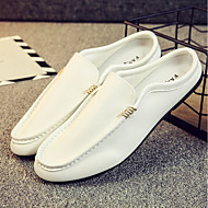 cheap Men's Clogs & Mules-Men's Shoes PU Fall Moccasin Clogs & Mules White / Black / Orange