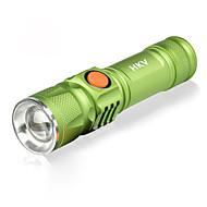 お買い得  -HKV LED懐中電灯 / ランプ LED 1000lm 3 照明モード パータブル / SOS キャンプ / ハイキング / ケイビング / 日常使用 / サイクリング ブラック / グリーン