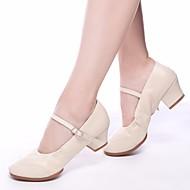 billige Moderne sko-Dame Moderne sko PU Høye hæler Tykk hæl Dansesko Svart / Beige / Rød / Ytelse / Trening