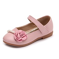 cheap Girls' Shoes-Girls' Shoes PU Summer Mary Jane Flats Imitation Pearl for Outdoor Beige Blue Pink