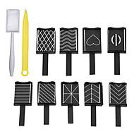 11pcs Nail Art Tool Nail DIY Tools Nail Painting Tools Flerskærms- Negle kunst Manicure Pedicure Neon & Bright Daglig