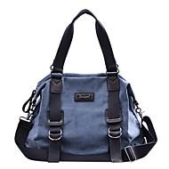 billige Rejsetasker-Lærred Geometrisk Rejsetaske Knapper for udendørs Forår sommer Mørkeblå / Kakifarvet