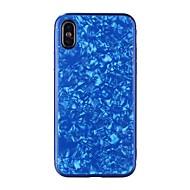 billiga Mobil cases & Skärmskydd-fodral Till Apple iPhone X / iPhone 8 Spegel / Läderplastik Skal Geometriska mönster Hårt Härdat glas för iPhone X / iPhone 8 Plus / iPhone 8