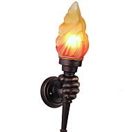 billige Vegglamper-Nytt Design Rustikk / Hytte Vegglamper Stue / Utendørs Harpiks Vegglampe 40W
