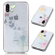 billiga Mobil cases & Skärmskydd-fodral Till Apple iPhone X / iPhone 8 Plus Plätering / Genomskinlig / Mönster Skal Fjäril / Maskros Mjukt TPU för iPhone X / iPhone 8 Plus / iPhone 8