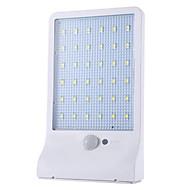 billiga Belysning-1st 2W Vägglampa Sol Infraröd sensor Vattentät Naturlig vit 5.5V Utomhusbelysning