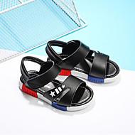 baratos Sapatos de Menino-Para Meninos Sapatos Courino Verão Conforto Sandálias Velcro para Branco / Preto