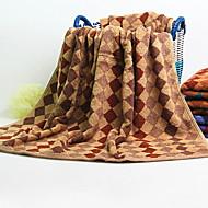 お買い得  バスタオル-優れた品質 バスタオル, 格子柄 綿100 1 pcs