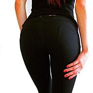 Žene Pamuk Sportski Legging - Jednobojni Niski struk