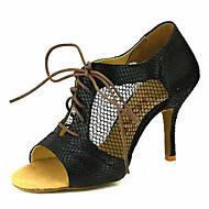 baratos Sapatilhas de Dança-Mulheres Sapatos de Dança Latina / Sapatos de Salsa Glitter / Courino Sandália / Salto Presilha / Cadarço de Borracha Salto Personalizado Personalizável Sapatos de Dança Prateado / Vermelho / Azul