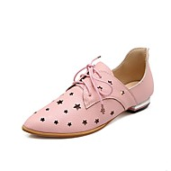 cheap Women's Oxfords-Women's Shoes Leatherette Spring & Summer Gladiator Oxfords Low Heel Pointed Toe Black / Silver / Light Pink