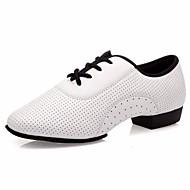 billige Moderne sko-Dame Moderne sko Annet dyreskinn Oxford Lav hæl Dansesko Hvit / Ytelse / Trening
