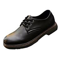 Hombre Zapatos PU Otoño Confort Oxfords Negro y Oro / Negro / blanco / Impresión Oxfords FximLhV