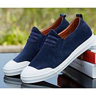 baratos Sapatos Masculinos-Homens Couro de Porco Primavera Conforto Mocassins e Slip-Ons Preto / Azul / Khaki