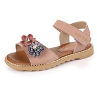 baratos Sapatos de Menina-Para Meninas Sapatos Courino Verão Conforto / Sapatos para Daminhas de Honra Sandálias para Branco / Cinzento / Rosa claro