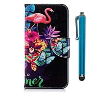 billiga Mobil cases & Skärmskydd-fodral Till Xiaomi Redmi 5 Plus / Redmi 5 Plånbok / Korthållare / med stativ Fodral Flamingo Hårt PU läder för Redmi Note 5A / Xiaomi