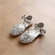 baratos Sapatos de Menina-Para Meninas Sapatos Couro Ecológico Primavera Verão Conforto Sandálias Laço / Lantejoulas para Dourado / Prata / Rosa claro