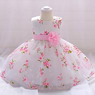 فستان قطن طول الركبة بدون كم ورد مناسب للحفلات عتيق للفتيات طفل