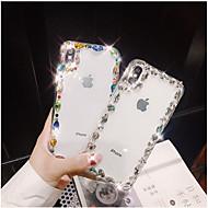 billiga Mobil cases & Skärmskydd-fodral Till Apple iPhone X iPhone 7 Plus Strass Skal Sken Hårt TPU för iPhone X iPhone 8 Plus iPhone 8 iPhone 7 Plus iPhone 7 iPhone 6s