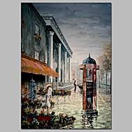 billiga Människomålningar-Hang målad oljemålning HANDMÅLAD - Landskap Människor Klassisk Vintage Inkludera innerram / Sträckt kanfas