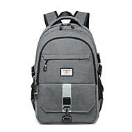 billige Computertasker-Bomuld / Polyester Laptoptaske Lynlås for udendørs Forår sommer Sort / Grå / Bleg Blå