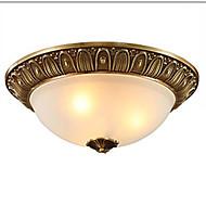 billige Takbelysning og vifter-QIHengZhaoMing 3-Light Takplafond Omgivelseslys 110-120V / 220-240V, Varm Hvit, Pære Inkludert