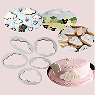 ieftine -5pcs pufos nori tort cutter decorare fondant biscuiti cookie fondant tăietor