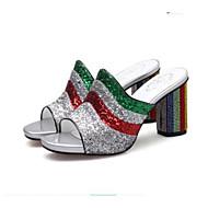 Žene Cipele Sintetika Ljeto Udobne cipele Sandale Kockasta potpetica Pink