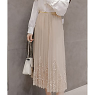 Dame A-linje Nederdele - I-byen-tøj Ensfarvet Høj Talje