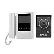 billige Dørtelefonssystem med video-XINSILU XSL-V43E168 Med ledning 4.3 tommers Håndfri / Telefon 480*272 pixel En Til En Video Dørtelefon