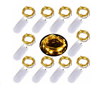 2 m Łańcuchy świetlne 20 Diody LED Ciepła biel / Zimna biel / Czerwony Dekoracyjna / Święta Zasilanie bateriami AA 10 szt.