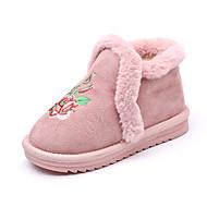 baratos Sapatos de Menina-Para Meninas Sapatos Poliester Inverno Botas de Neve Botas Caminhada para Infantil Preto / Amarelo / Rosa claro / Botas Curtas / Ankle