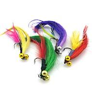 billiga Fiske-4 pcs Flugor / Fiskbete / Fiskekit Flugor / Lock förpackningar Fjädrar / Kolstål Enkel att installera / Lätt att bära / Lättvikt Sjöfiske / Flugfiske / Kastfiske / Färskvatten Fiske / Karpfiske