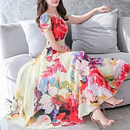 Χαμηλού Κόστους -Γυναικεία Μεγάλα Μεγέθη Εξόδου Φαρδιά Swing Φόρεμα Μίντι Λαιμόκοψη U