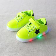 tanie Obuwie chłopięce-Dla chłopców / Dla dziewczynek Obuwie PU Wiosna i jesień Wygoda / Świecące buty Adidasy Sznurowane / Tasiemka / LED na Dzieci / Dziecięce Czarny / Zielony / Różowy