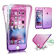 billiga Mobil cases & Skärmskydd-fodral Till Apple iPhone X / iPhone 8 Genomskinlig Fodral Färggradient Mjukt TPU för iPhone X / iPhone 8 Plus / iPhone 8