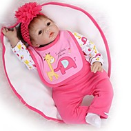 cheap Sports & Hobbies-NPKCOLLECTION NPK DOLL Reborn Doll Girl Doll Baby Girl 24 inch Silicone - lifelike Gift Child Safe Non Toxic Tipped and Sealed Nails Natural Skin Tone Kid's Girls' Toy Gift