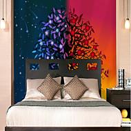 billige Tapet-Veggmaleri Lerret Tapetsering - selvklebende nødvendig Art Deco / Trær / blader / 3D