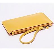 baratos Clutches & Bolsas de Noite-Mulheres Bolsas PU Bolsa de Pulso Ziper Rosa / Amarelo